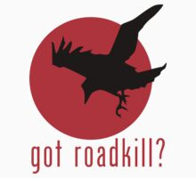 Got Roadkill? Crow Diving Down For Roadkill T-Shirt or Hoodie by equilibria