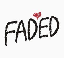 Faded <3 - Black by tumblingtshirts