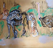 The Tiger who lost his Stripes Illustrations  by Jemimah  Canegrati