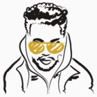 Drawing of The Weeknd by tumblingtshirts