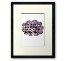The Fault Cloud Framed Print