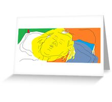 Female head: Girl asleep -(090214)- Digital artwork/MS Paint Greeting Card