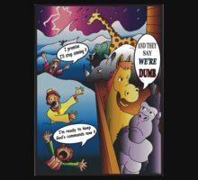 Funny Noah's Ark Animal Cartoon by TRUTHMANSHIRTS