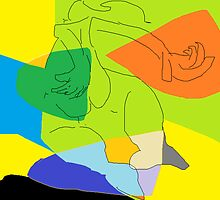 Modern dance I -(090214)- Digital artwork/MS Paint by paulramnora