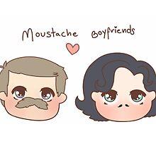 Moustache boyfriends by frecklepies