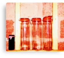 Red Jars- Unique Photography  Canvas Print