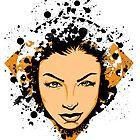Face Splatter by joebarondesign