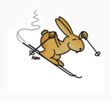 Skiing Bunny by katelein