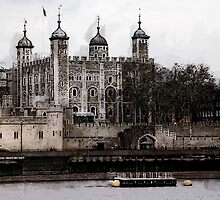TOWER of LONDON's WHITE TOWER by Daniel-Hagerman