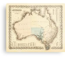 MAP of MYSTERIOUS AUSTRALIA  c. 1850 Metal Print