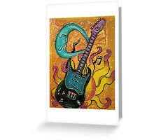 Celestial Guitar Greeting Card