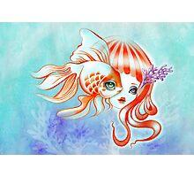 Dreamland Muses - Jellyfish Girl & Goldfish Photographic Print