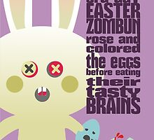 cute zombie bunny egg brains easter card by BigMRanch
