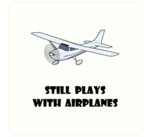 Plays With Airplanes Art Print