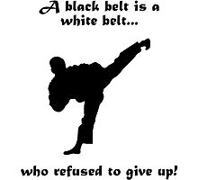Black belt Refusal by AmazingMart