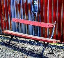 Railway Bench by English Landscape Prints