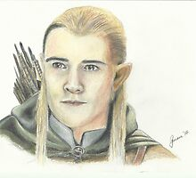Orlando Bloom as Legolas by Gemma Evans