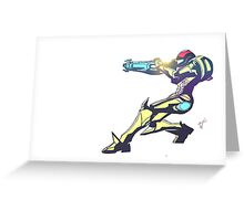 Samus Aran Color V2 Greeting Card