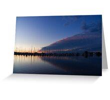 Peaceful Yachts and Sailboats Greeting Card