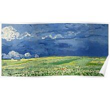 Vincent van Gogh - Wheatfield under thunderclouds Poster