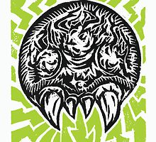 Metroid LinoCut by Jason Castillo