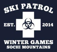 Sochi Winter Games Bio Hazard Ski Patrol T Shirt by xdurango