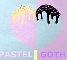 Pastel Goth Icecream heart by Cody Crusan