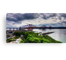 The Bridge under Cloudy Skies Canvas Print