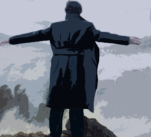 Sherlock above the Sea of Fog Sticker