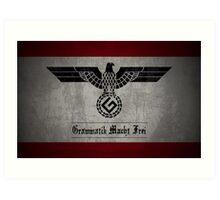 Grammar Nazi Art Print