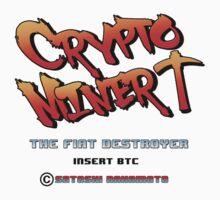 Bitcoin Crypto Miner Retro Game Design by NibiruHybrid