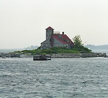 Lighthouse Island - Portland, Maine by Frank Romeo