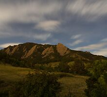 Flatirons on a Full Moon by Presley Reed III