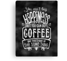 Coffee lover's Poster - Chalkboard Style Canvas Print