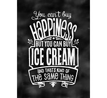 Ice Cream Lover's Poster - Chalkboard Style Photographic Print