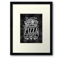 Pizza Lover's Poster - Chalkboard Style Framed Print