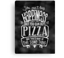 Pizza Lover's Poster - Chalkboard Style Canvas Print