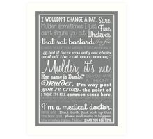 Dana Scully Quotes Art Print