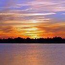 Orange & Blue Sunset by Cynthia48