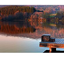 Romantic evening at the lake | waterscape photography Photographic Print