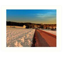 Country road through winter wonderland | landscape photography Art Print