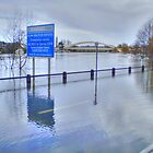 The Thames In Flood - Walton Bridge ! by Colin J Williams Photography