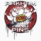 Arkham King Pins - Bowling Team T-shirt by DomCowles12