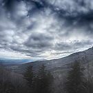 blue ridge mountain near blowing rock north carolina by Alexandr Grichenko