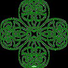 Irish Shamrock - line Art for St-Patrick's Day by Anne Thigpen