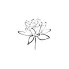 Lotus Flower Calligraphy Print (Smoke) by Makanahele