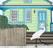 Great Egret House by Janet Carlson