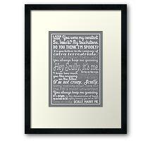 Fox Mulder Quotes Framed Print