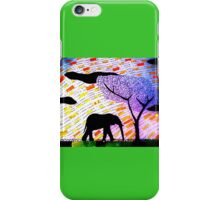 Lone Elephant iPhone Case/Skin