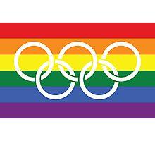 Rainbow Olympics Photographic Print